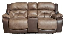 Big Tex Power Reclining Loveseat W/Console, , small