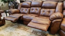 Hopeful Leather Manual Reclining Sofa