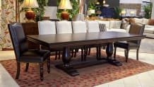 Java Dining Table with Carson and Vanderbilt Chairs
