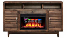 61-inch Grassland Console with Fireplace