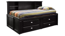 Turkey Creek Black Captains Bed Twin, , small