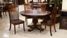 Weston Two-Tone Round Table with Baytown Chairs, , small