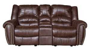 Sanderson Microfiber Power Reclining Loveseat, , hi-res