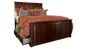 Henrietta Solid Wood Cherry King Storage Bed, , hi-res