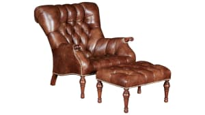 Stickley Leopold's Chair and Ottoman