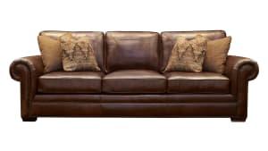 Liberty Leather Chocolate Sofa