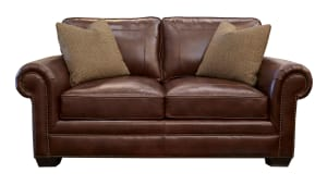 Liberty Leather Chocolate Loveseat