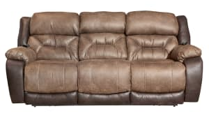 Big Tex Power Reclining Sofa W/Power Headrest