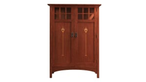 Stickley 2017 Collectors Edition Cabinet With Harvey Ellis Inlay