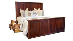 Henrietta Solid Wood Cherry Queen Storage Bed