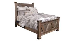 Stone Antiqued Queen Bed