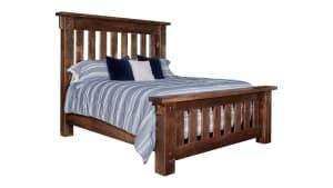 Conroe Ruff Sawn Queen Bed