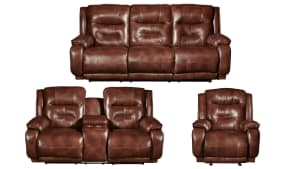 CRESENT 3PC PWR LEATHER  RECLINING SET