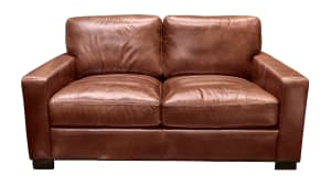 IMPORT RANDALL CHESTNUT LOVESEAT, , hi-res