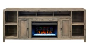 """Gardendale 84"""" Console with Fireplace"""