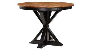 Stained Ebony Pedestal Counter Ht.Table