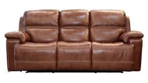 Secretariat Brown Power Reclining Sofa