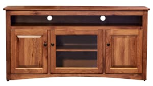 Rustic Hickory TV Console