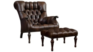 Stickley Leopold Chair and Ottoman