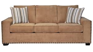 Two Tone Pecan Sofa