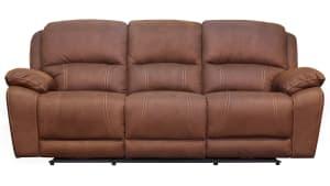 Dark Brown Power Reclining Sofa