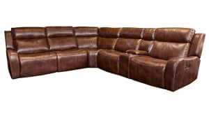 Banner Brown Power Reclining Sectional
