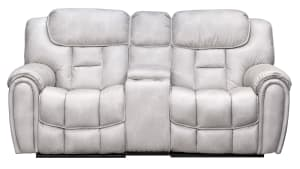 Cayman Snow Power Reclining Loveseat