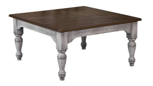 Plymouth Distressed Square Cocktail Table