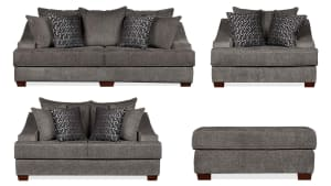 Kyle Charcoal Living Room Collection