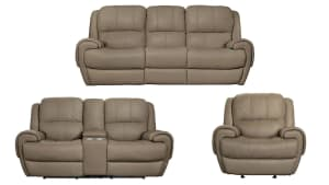 American Leather Power reclining living room Set W/Console