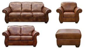 NAVASOTA MOLASSES LEATHER LIVING ROOM COLLECTION