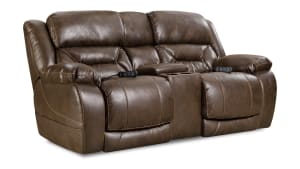 Enterprise Coffee Power Reclining Loveseat W/Console