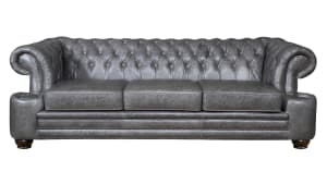 Charles Driftwood Tufted Leather Sofa, , hi-res