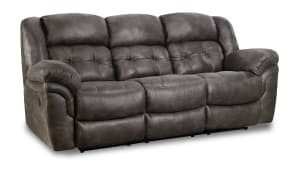 Marcelina Charcoal Manual Reclining Sofa