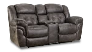 Marcelina Charcoal Reclining  Loveseat
