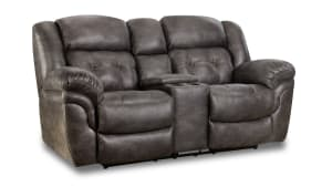 Marcelina Charcoal Power Reclining Loveseat W/Console