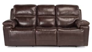 Secretariat Burgundy Power Reclining Sofa W/Power Headrest