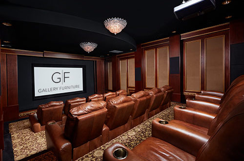 home theater furniture.  Furniture The Furniture You Have Custom Made By Gallery Furniture Not Only Provides  Jobs For Americans Your Home Theater Seating Sustains A Tradition Of  And Home Theater