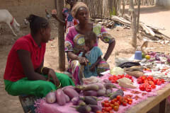 Gambia food | Local market stall