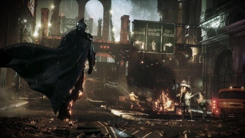 salah satu aksi Batman di Batman: Arkham Knight