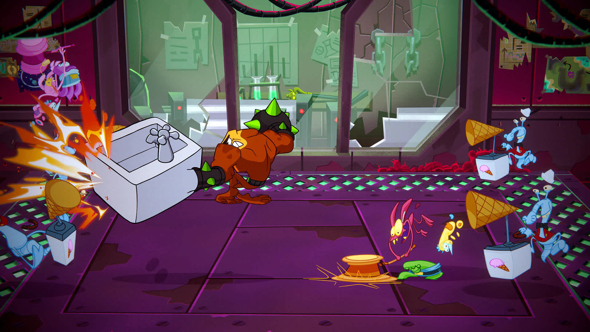 Battletoads 2D Coop gets a bit visual heavy
