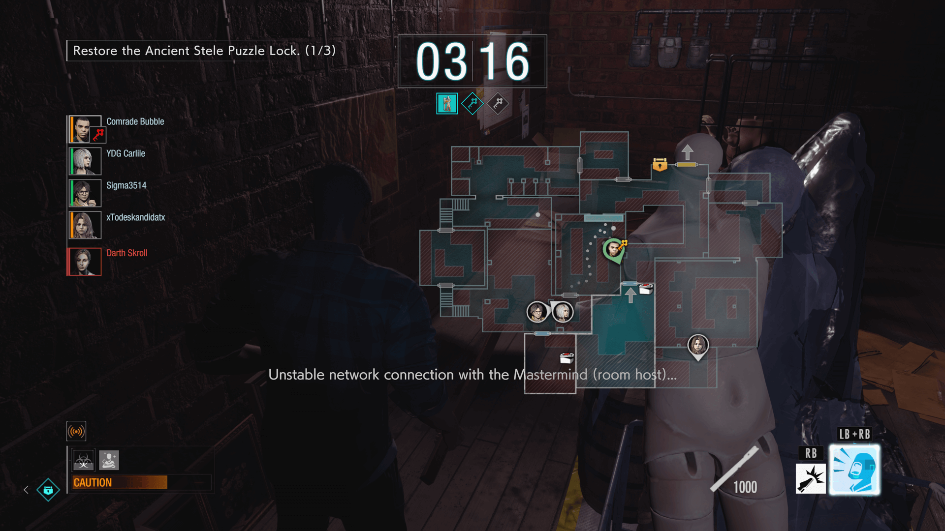 Image of the map of Resident Evil 3 remake on pc