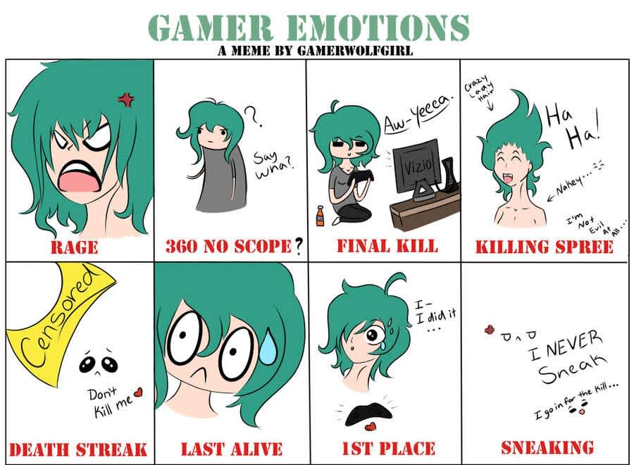 gamer emotion