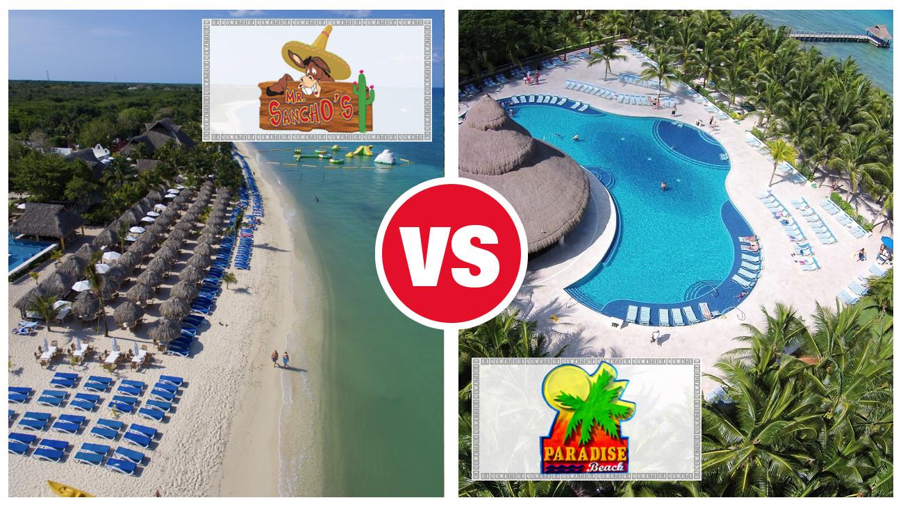 Paradise Beach vs Mr Sanchos – Cozumel Resort Showdown