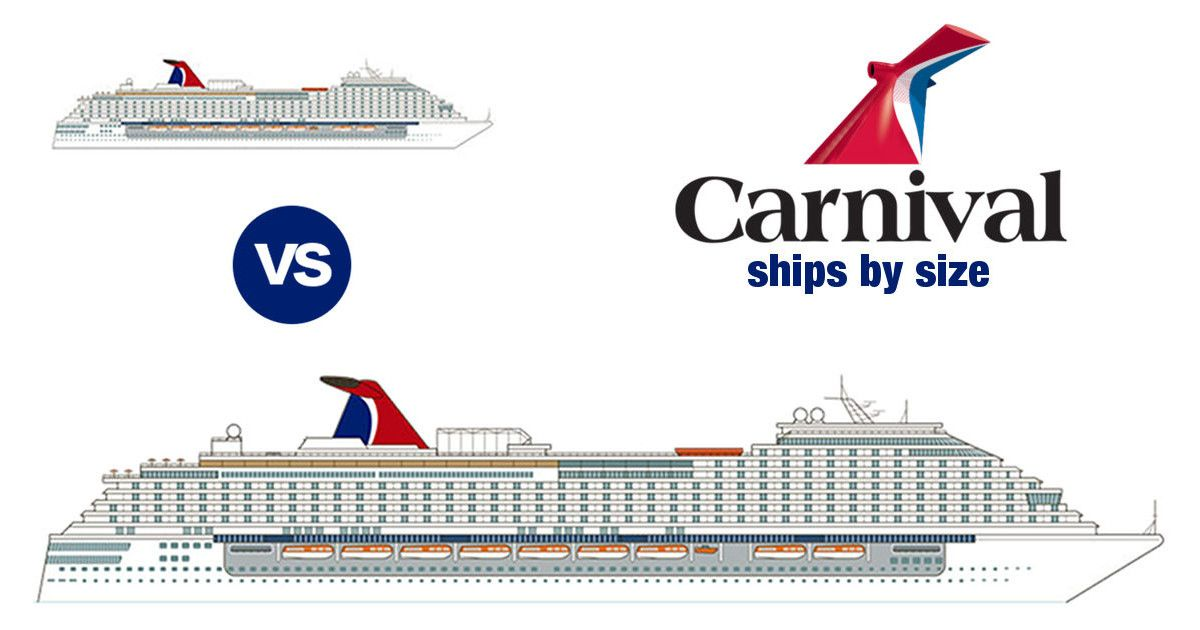 Carnival Ships By Size 2020 With Comparison Chart