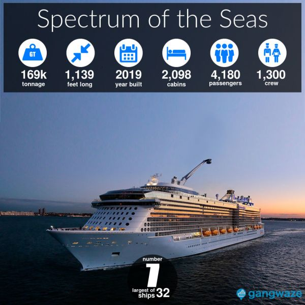 Spectrum of the Seas Ship Size