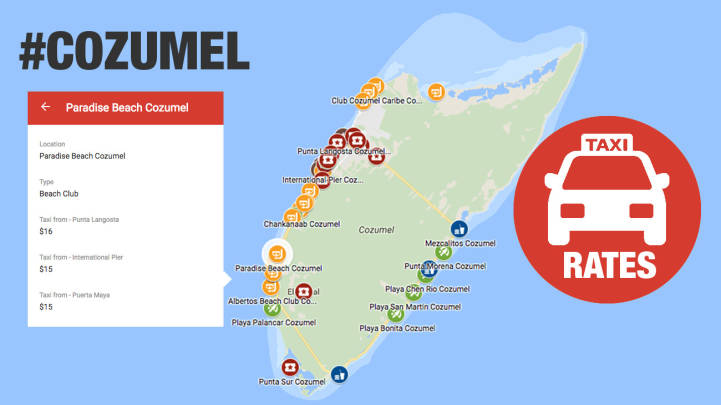 Cozumel Cruise Port Taxi Rates [2020]