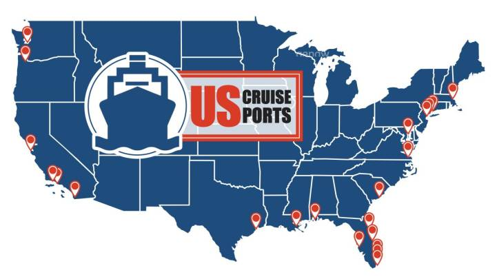 Cruise Ship Ports – US Departures Full Port List & Map [2020]