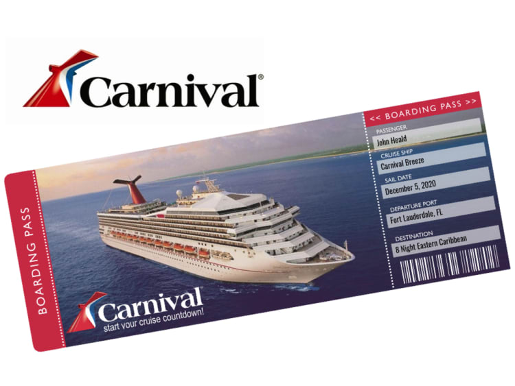 Carnival Cruise Ticket Template