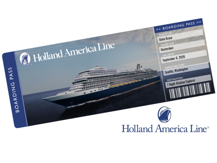 Holland America Cruise Ticket Template